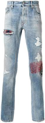 Just Cavalli distressed straight fit jeans