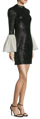Rachel Zoe Wes Bell-Sleeve Mini Dress