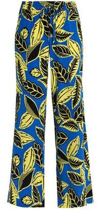 Moschino Printed Woven Wide-Leg Pants