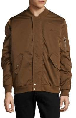 Lacoste Stand Collar Bomber Jacket
