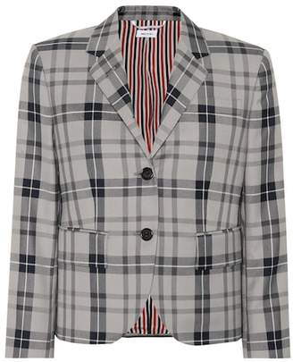 Thom Browne Plaid wool-blend blazer