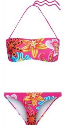 Moschino Floral-Print Bandeau Bikini