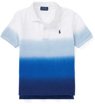 Ralph Lauren Dip-Dye Short-Sleeve Polo, Size 5-7