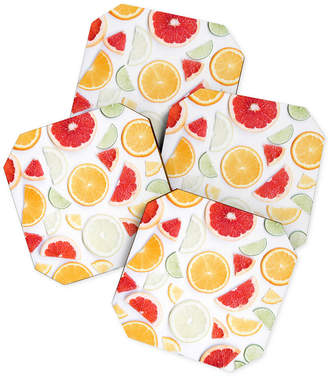 Deny Designs Ingrid Beddoes Citrus Fresh Coaster Set