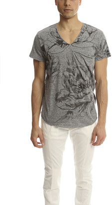 3.1 Phillip Lim V-Neck Pocket Tee with Rose