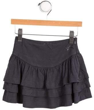 Lili Gaufrette Girls' Tiered Knit Skirt
