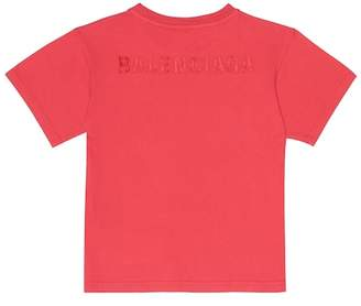 Balenciaga Kids' embroidered cotton T-shirt
