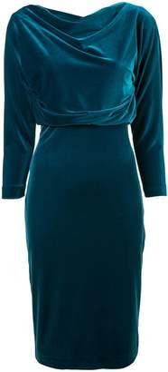 Badgley Mischka velvet shift dress