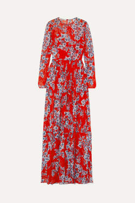 Philosophy di Lorenzo Serafini Floral-print Chiffon Maxi Dress - Red