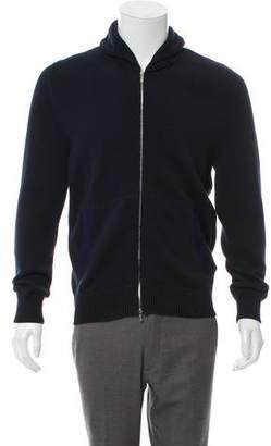 Kiton Shawl-Collared Zip Sweater