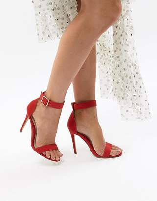 Missguided Ankle Strap Barely There Heeled Sandal