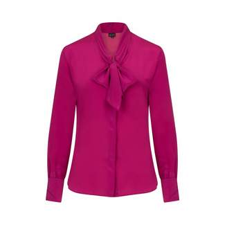 Sophie Cameron Davies - Berry Pink Silk Bow Blouse