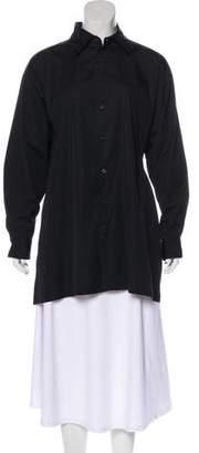 eskandar Collared Button-Up Top