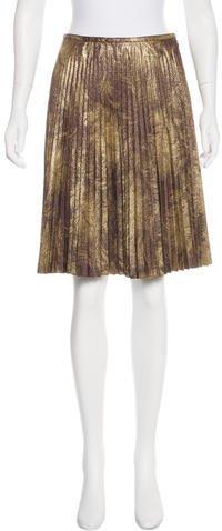 Trina Turk Metallic Pleated Skirt w/ Tags