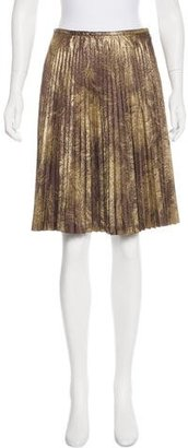 Trina Turk Metallic Pleated Skirt w/ Tags $65 thestylecure.com