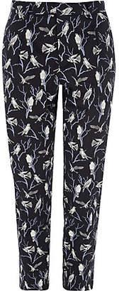 River Island Jack and Jones premium navy bird print pants