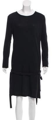 Ann Demeulemeester Long Sleeve Belted Dress