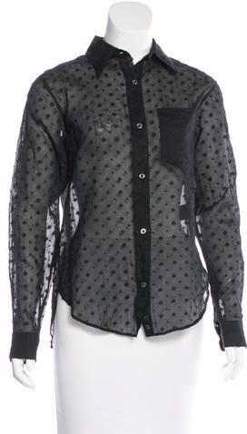 Isabel Marant Isabel Marant Embroidered Button-Up Top