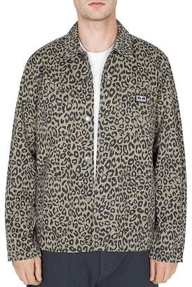 Obey Hard Work Leopard-Print Utility Jacket