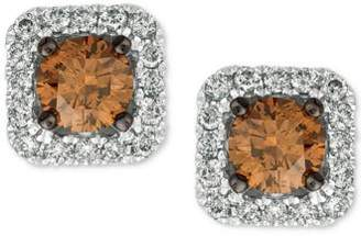 LeVian Le Vian Chocolatier® Diamond (3/4 ct. t.w.) Halo Stud Earrings in 14k White Gold, Rose Gold or Yellow Gold.