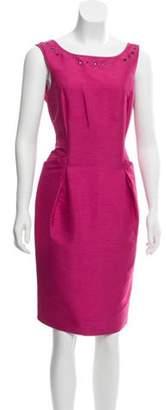 Nina Ricci Sleeveless Sheath Dress Fuchsia Sleeveless Sheath Dress