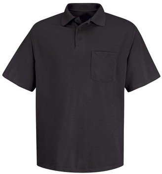 Red Kap Men's Short Sleeve Performance Knit Polyester Solid Shirt