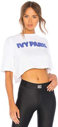 Ivy Park Chenille Logo Crop Tee