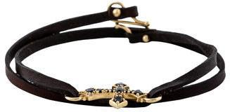 Mizuki Brown Diamond Cross Bracelet $445 thestylecure.com