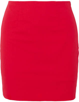 STAUD - Panda Stretch-cotton Poplin Mini Skirt - Red