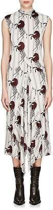 Chloé Women's Striped Horse-Print Silk Sleeveless Dress