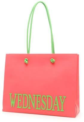 Alberta Ferretti Leather Wednesday Shopping Bag