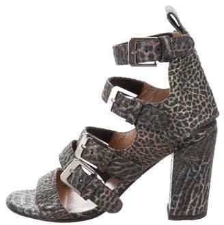 Laurence Dacade Embossed Multistrap Sandals