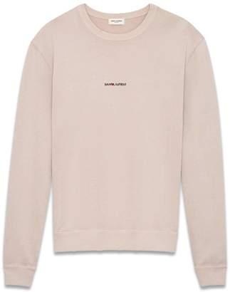 Saint Laurent Sweatshirt In Light Pink Cotton
