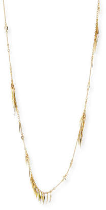 Alexis Bittar Long Spike Tassel Fringe Necklace