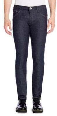 Giorgio Armani Textured Slim Fit Jeans