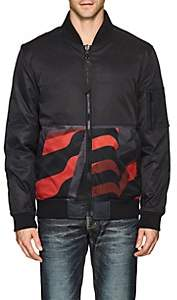 The Very Warm THE VERY WARM MEN'S REVERSIBLE INSULATED BOMBER JACKET-BLACK SIZE S