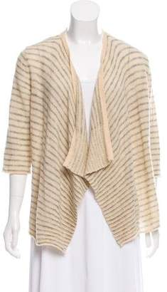 Calypso Striped Open Front Cardigan