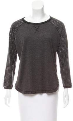 Rebecca Taylor Embellished Long Sleeve Top