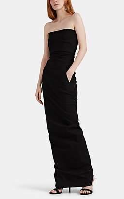 Rick Owens Women's Cotton-Blend Bustier Gown - Black
