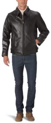 Schott NYC Men's Lc5100 Collar Leather Long Sleeve Jacket