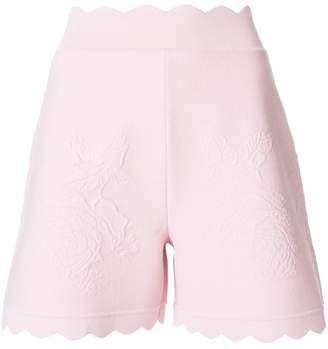 Alexander McQueen scalloped shorts