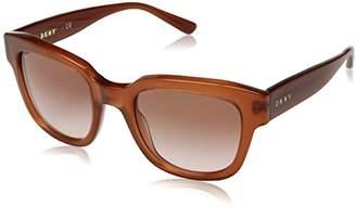 DKNY Women's Plastic Woman Rectangular Sunglasses