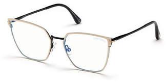 Tom Ford Metal Cat-Eye Optical Frames