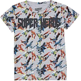 "Little Eleven Paris KIDS' ""SUPER HEROS"" COTTON-BLEND T-SHIRT"