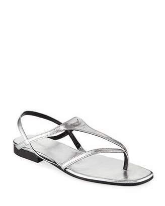 Zadig & Voltaire Dillon Metallic Leather Sandals