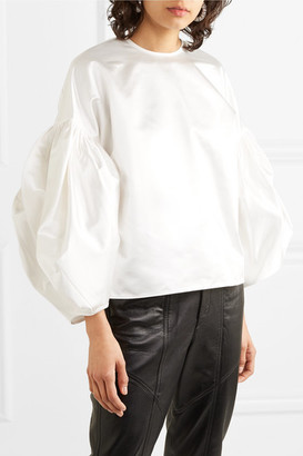 Nackiyé - Nightingale Cotton-blend Duchesse-satin Blouse - White