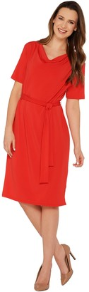 Brooke Shields Timeless BROOKE SHIELDS Timeless Short Sleeve Knit Dress with Tie