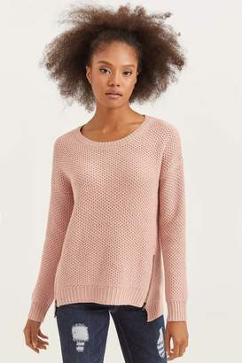 Ardene Thick Knit Sweater with Zip Details