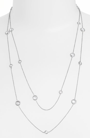 Nadri Long Bezel Station Necklace (Nordstrom Exclusive)