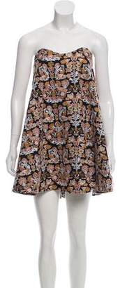 Caroline Constas Embroidered Mini Dress w/ Tags